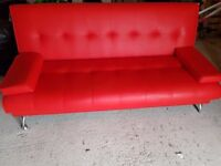 Red Leather Sofa Bed fir sake