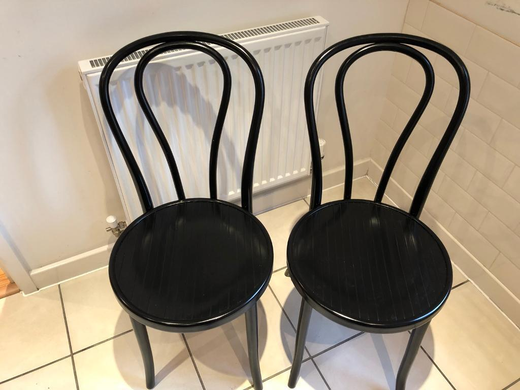 Bistro style chairs (pair)