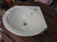 B&Q Treviso Corner Cloakroom basin