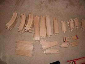 Wooden train set bundle