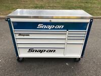 Snap On Toolbox - White + Blue