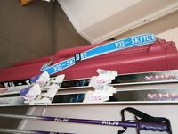 Dynastar Skis, poles and ski tube