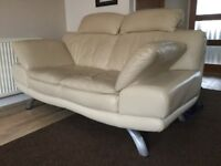 3 & 2 Seater Italian DFS Leather Sofas