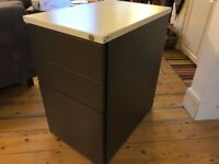 Filing Cabinet with two Drawers Grey/White