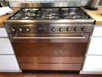 Smeg 90cm wide range cooker for sale