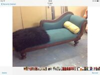 Vintage chaise lounge,needs attention,lovely item