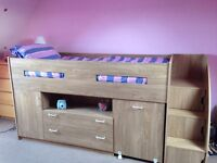 Mid-sleeper Cabin Bed Desk & Storage for sale