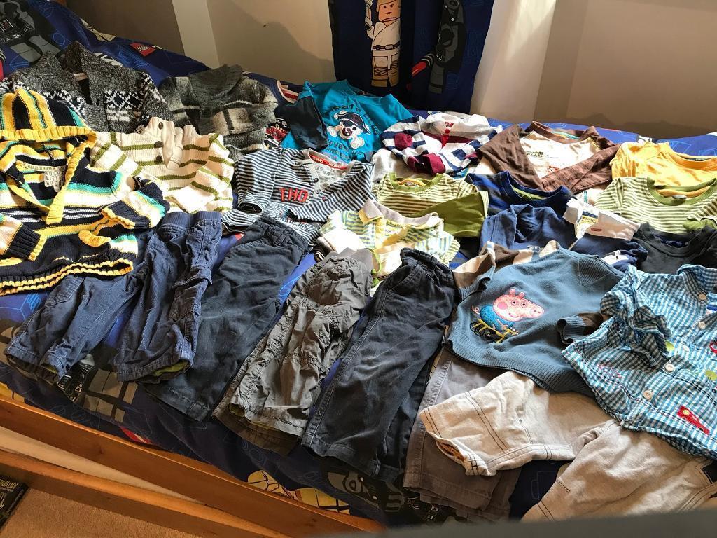 d4a37a7d1 MASSIVE BUNDLE OF BABY BOYS CLOTHES AGED 12-18 ...