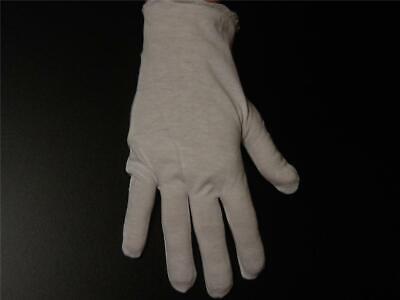 6 Pair Med Wt White Lisle Cotton Gloves - Mens - 100 Cotton New