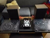 Two Numark turntables,preamp,speakers and more /or sell separately