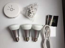 Philips Hue White and Colour Wireless Ambiance Starter Kit A60 E27 Multi-colour