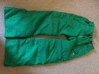 Green 686 kids ski/snowboard pants