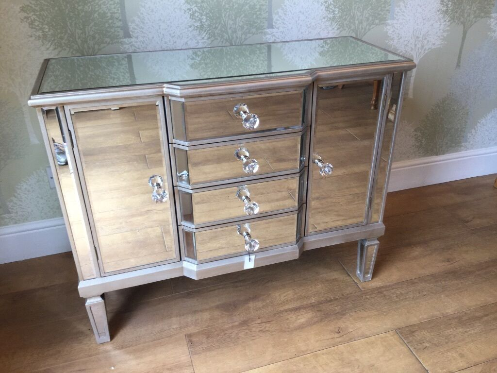 new boxed venetian mirrored sideboard  in ongar essex  gumtree - new boxed venetian mirrored sideboard