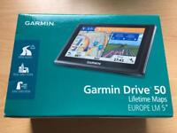New Garmin Drive 50LM Sat Nav with Full Europe Lifetime Maps - 5 Inch, Black