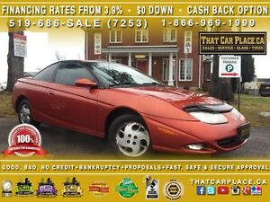 2002 Saturn SC 3DR Coupe-Auto-Leather-SunRoof-Tint-Cruise-Tilt-A