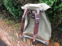 Swiss Rucksack Canvas and Leather