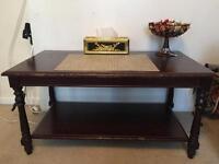 Mahogany wood coffee table