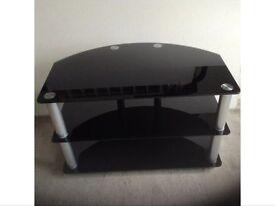 Black glass tv/ audio stand
