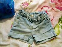 12-18months girls next shorts
