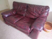 Crimson leather sofa for sale