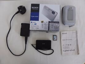 Sony Cybershot compact point and shoot digital camera