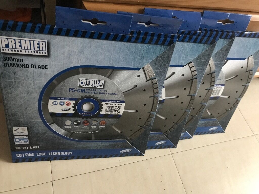 Premier diamond blade 300mmin LondonGumtree - 4 blades for sale,any genuine offers in the range of £30 per blade,all products unused as new