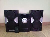 Hi Fi System: CD, radio, iPod docking station with remote control - £20