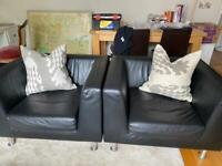 Luxy Italy black armchairs