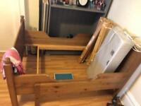 Kids toddler bed pine wood