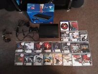 Play Station PS 3 super slim 12GB + 111GB hard drive + 21 games excellent gift for Christmas!!!