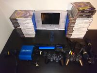 PS2 Console With Travel Pack, 78 Games and accessories Bundle