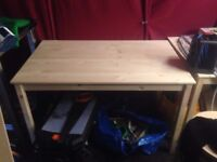 BRAND NEW UNUSED X2 Ikea INGO Pine Table RRP £80 - PICK UP BY TUES 25TH JULY
