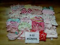 Huge bundle of girls 9-12 months clothes