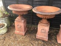 Fabulous garden urns and plinths