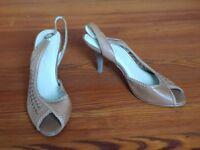 ladies tan sling back sandals UK size 5 (38)
