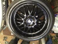 "19"" staggered deep dish alloys"