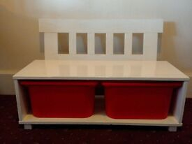 Lovely seat and toy shelve