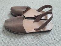 Menorca leather sandals size 39