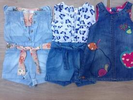 Next baby girl outfits, 3-6 months