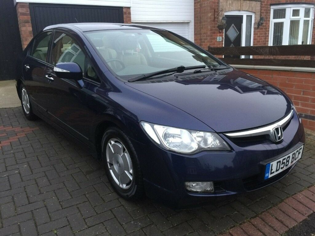 Honda Civic Hybrid 1 3 2008 Blue Fsh