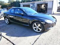 ** NEWTON CARS ** 06 MAZDA RX8 2.6 192PS, COUPE, 82,000 MLS, FSH, GOOD COND, FULL MOT SUPPLIED, CALL