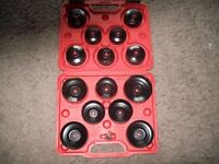 BRAND NEW 16 PCE OIL FILTER CUP SET