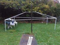 Gazebo. 4 meters x 3 meters. Green. 'AirWave party tent Marquee'