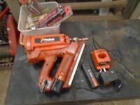 paslode nail gun 2 batterys and charger