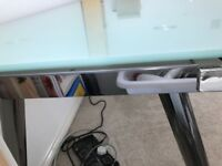 Ikea Galant desk with adjustable chrome legs