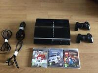 PS3 plus 2xControllers and games