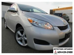2009 Toyota Matrix XR AWD; Local BC vehicle! LOW KMS!