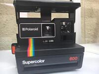 Polaroid camera working