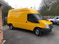 2010-10-reg ford transit 350-115ps 2.4TD RWD long wheel base hi roof free U.K. delivery