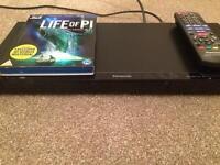 Panasonic dmp-bdt130 blu ray 3D ready player and